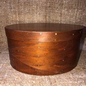 Vintage Oval Wood Shaker Box